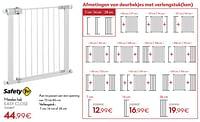 Metalen hek easy close-Safety 1st