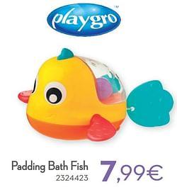 Padding bath fish