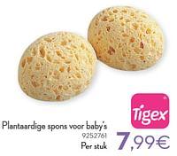 Plantaardige spons voor baby`s-Tigex