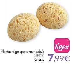 Plantaardige spons voor baby`s