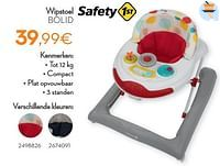 Wipstoel bolid-Safety 1st