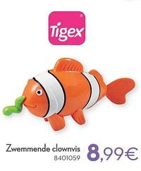 Zwemmende clownvis-Tigex