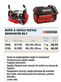 Boîte à outils textile renforcée bs.t