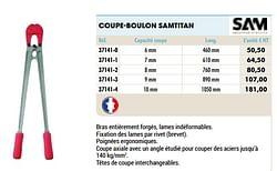 Coupe-boulon samtitan