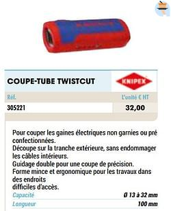 Coupe-tube twistcut