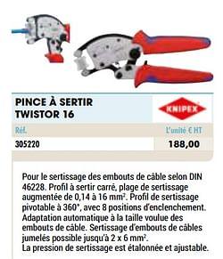Pince à sertir twistor 16