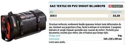 Sac textile en pvc enduit bs.lmbcpb