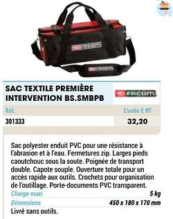 Sac textile première intervention bs.smbpb