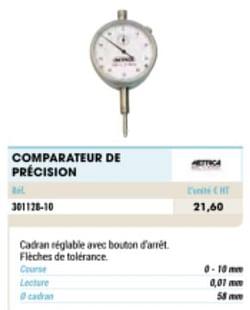 Comparateur de précision