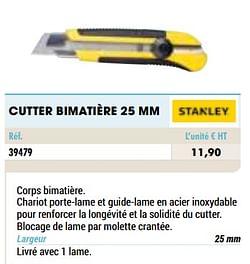 Cutter bimatière