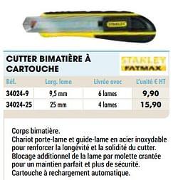 Cutter bimatière à cartouche