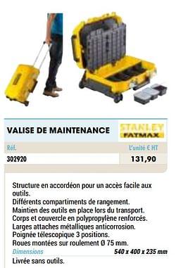 Valise de maintenance