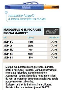 Marqueur gel pica-gel signalmarker