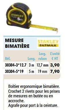 Mesure bimatière