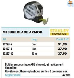 Mesure blade armor