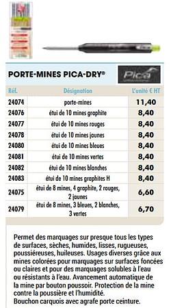 Porte-mines pica-dry