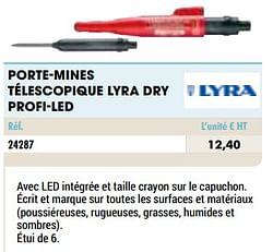 Porte-mines télescopique lyra dry profi-led