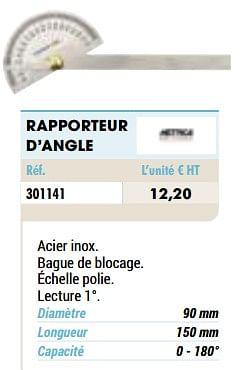 Rapporteur d`angle