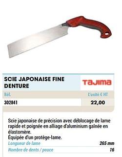 Scie japonaise fine denture