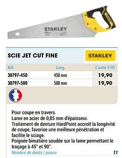 Scie jet cut fine