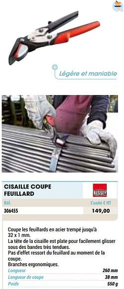 Cisaille coupe feuillard