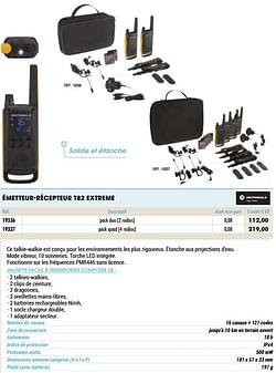 Émetteur-récepteur t82 extreme