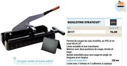 Guillotine straticut