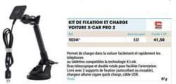 Kit de fixation et charge voiture x-car pro 2