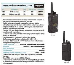 Motorola émetteur-récepteur série xt400