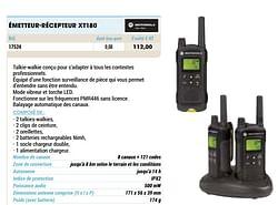 Motorola émetteur-récepteur xt180