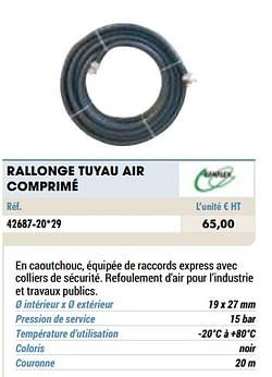Rallonge tuyau air comprimé