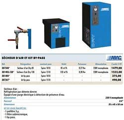 Sécheur d`air et kit by-pass