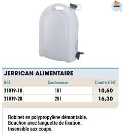 Jerrican alimentaire