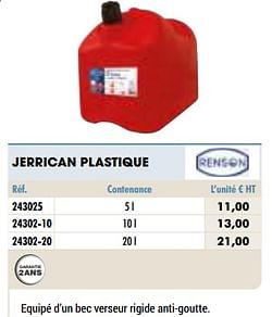 Jerrican plastique