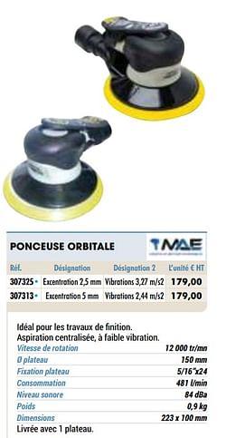 Ponceuse orbitale