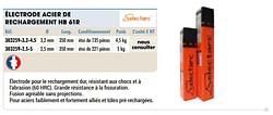 Électrode acier de rechargement hb 61r