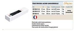 Électrode acier universelle