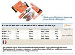 Électrode multi-usage haute sécurité de réparation 29-9
