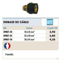 Embase de câble
