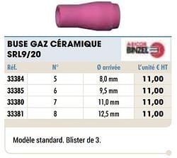 Buse gaz céramique srl9-20