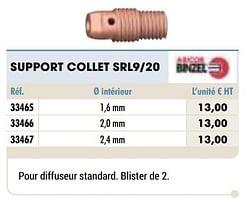 Support collet srl9-20