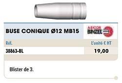 Buse conique ø12 mb15