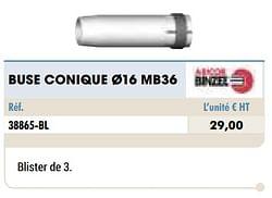 Buse conique ø16 mb36