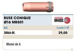 Buse conique ø16 mb501
