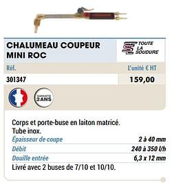 Chalumeau coupeur mini roc