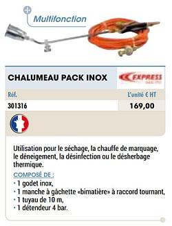 Chalumeau pack inox