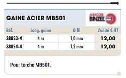 Gaine acier mb501