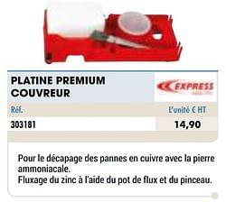 Platine premium couvreur