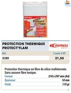 Protection thermique protect`flam