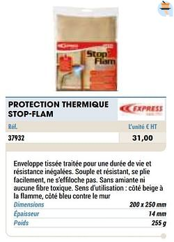 Protection thermique stop-flam